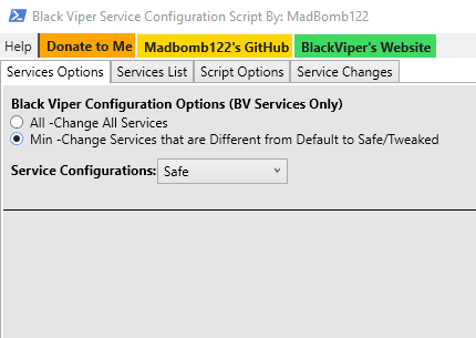 select a black viper configure option
