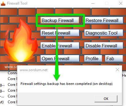 use backup firewall button