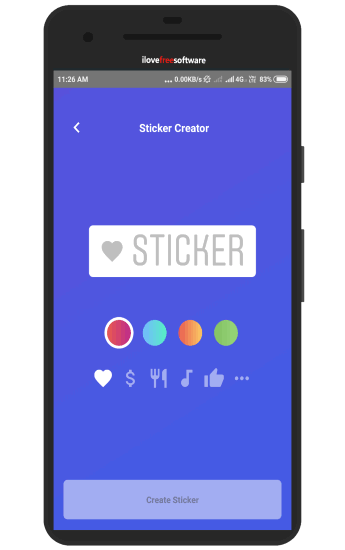 write text for sticker
