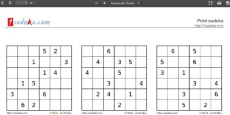image relating to Sudoku Printable Pdf named 8 Web-sites for 6X6 Sudoku Printable Puzzles