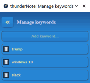 Add custom words related to the content
