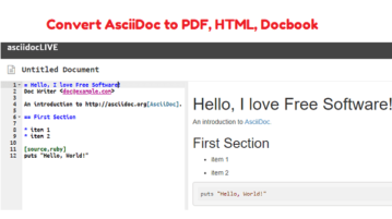 AsciiDoc to PDF, HTML, Docbook Free from Command Line