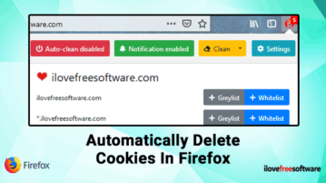 Automatically delete cookies in Firefox