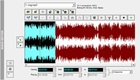 audio processing software with wave editor