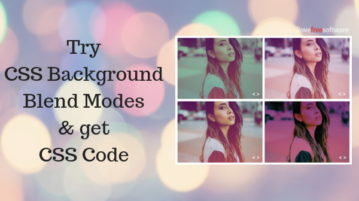 Try Multiple CSS Background Blend Modes on Image, Get CSS Code