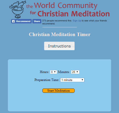 Christian Meditation Timer