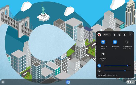 CloudReady OS desktop and shelf