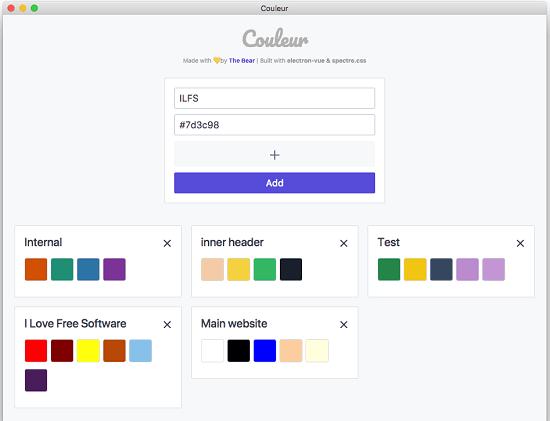 Color Palette Creator MAC App to Remember Color Schemes