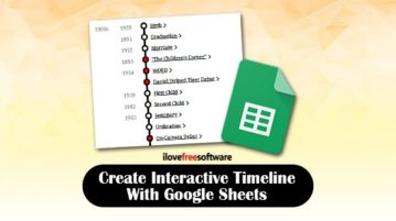 Create interactive timeline with Google Sheets