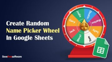 Create random name picker wheel in Google Sheets