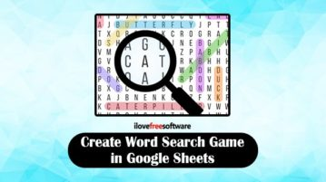 Create word search game in Google Sheets