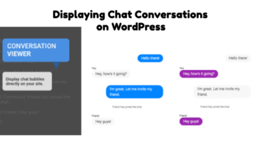Displaying Chat Conversations onWordPress