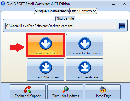 Free Software to Convert EML to MSG, Extract Attachments