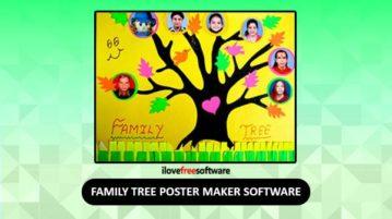 Family tree poster maker software