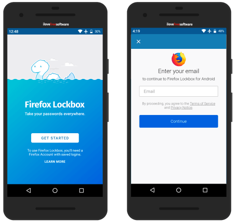 Firefox Lockbox get started