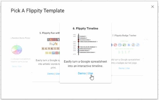 Flippity Timeline Template