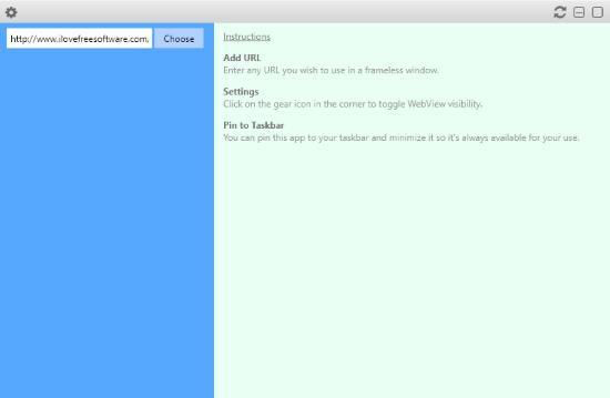Frameless Window Wrapper for Chrome (Interface)