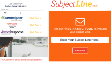 Free Email Subject Rating Tool to test Email Subject Line for Spam