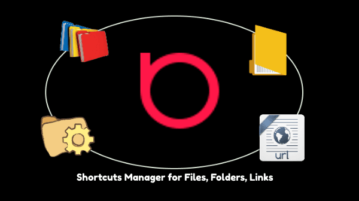 Free Shortcuts Manager Software for Files, Folders, Website Links