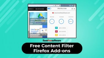 Free content filter Firefox add-ons