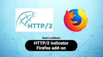HTTP 2 indicator Firefox add-on
