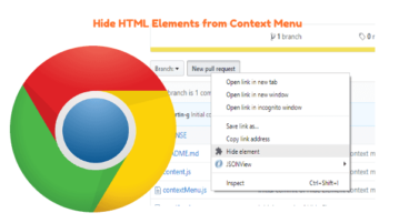 Hide HTML Elements on a Webpage from Context Menu