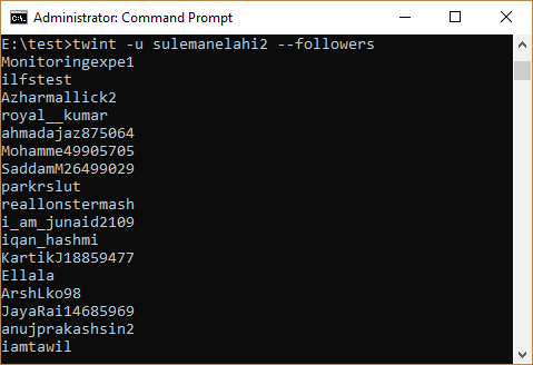 How To Scrape Followers of Any Twitter User from Command Line