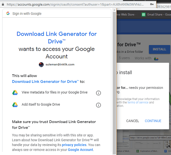Link Generator for Drive install