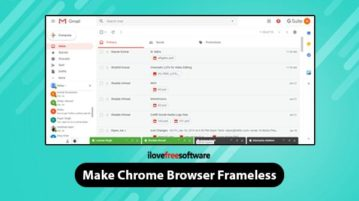 Make Chrome browser frameless
