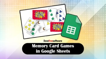 Memory card games in Google Sheets