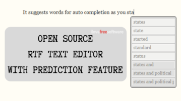 Open Source Text Editor with Text Prediction Features