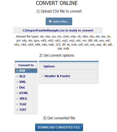 5 Online CSV To PDF Converter Free Websites