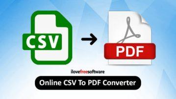 Online CSV to PDF converter
