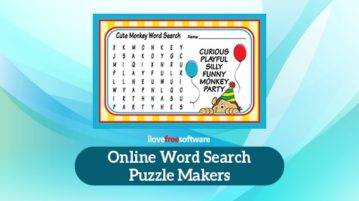 Online word search puzzle makers
