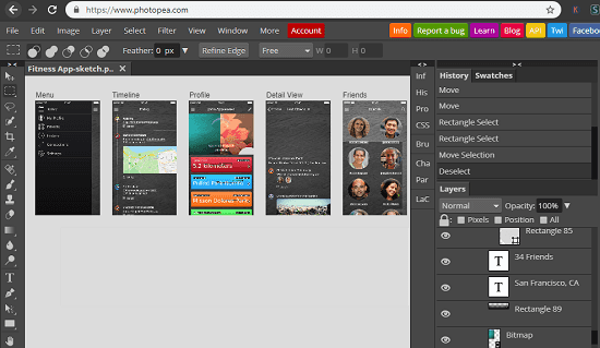 Photopea online editor