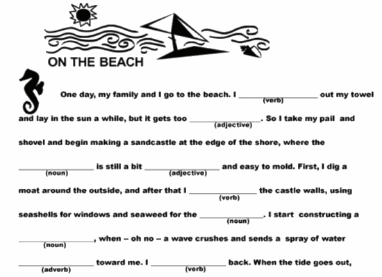 photo relating to Printable Mad Libs for Adults Pdf named 5 Printable Ridiculous Libs For Children On the internet