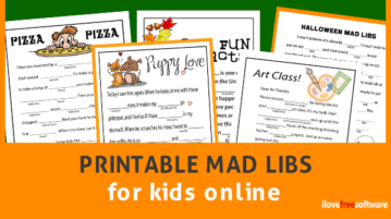 Printable Mad Libs for kids online