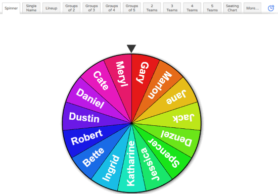 Random name picker wheel