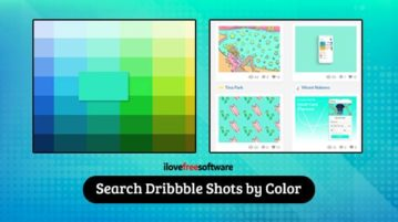 Search Dribbble shots by color