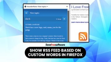 Show RSS feed based on custom words in Firefox