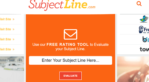 SubjectLine interface