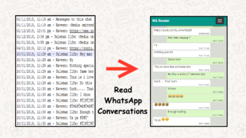 Tool to Read WhatsApp Conversations from Email Text Backups