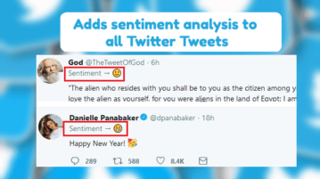 Twitter Sentiment Analysis Firefox Addon