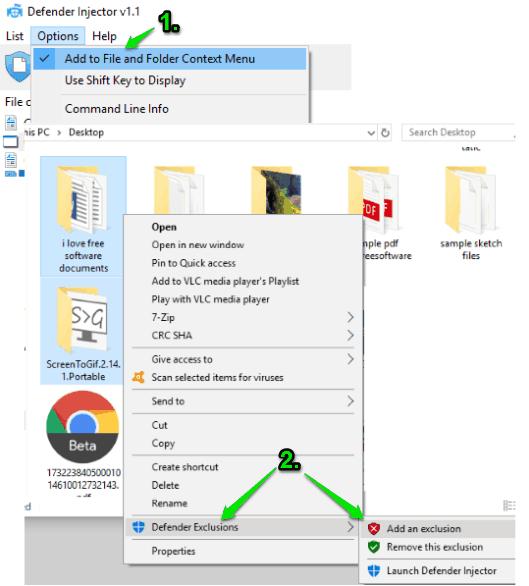 add to right click context menu