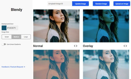 blend image online with CSS background blend mode
