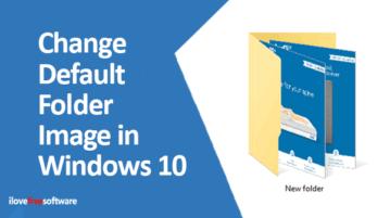 change default folder image in windows 10