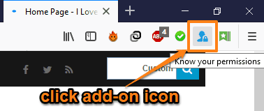 click add-on icon