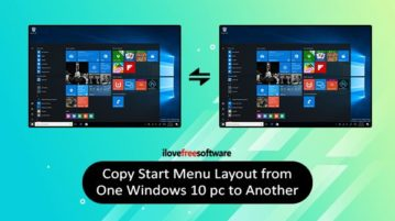 copy start menu layout from one windows 10 pc to another