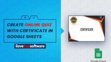 create online quiz with certificate in Google Sheets