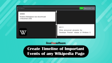 create timeline of any wikipedia page
